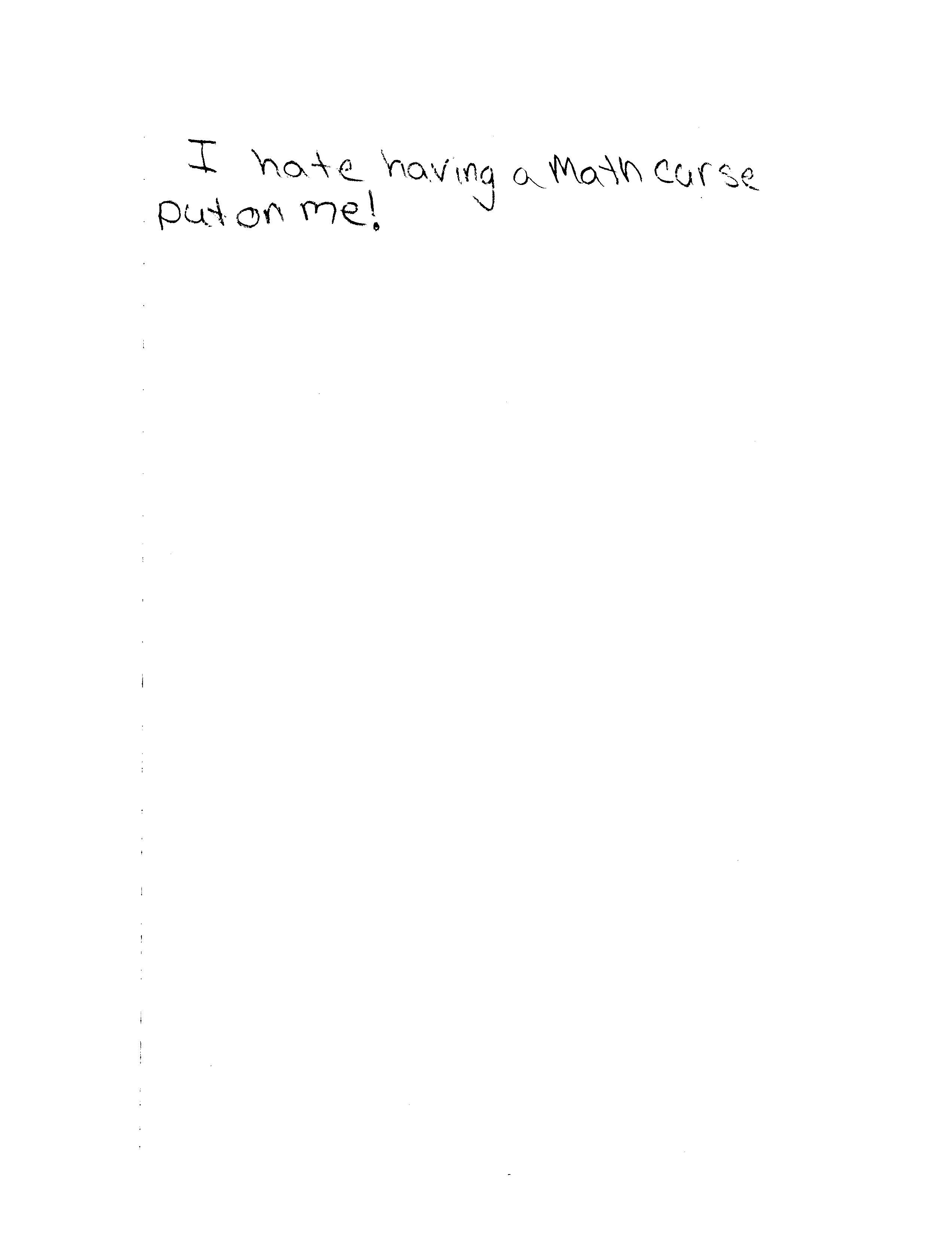 WVSU Lesson Plan – Math Curse Worksheets